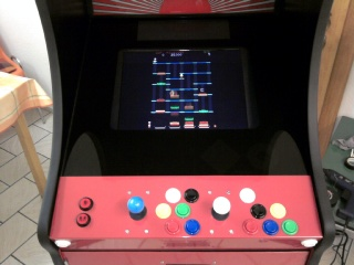 The nearly finished arcade.